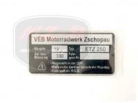 ETZ 250 NAMEPLATE /ETZ250/