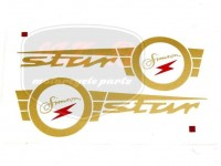 SIMSON STAR DECAL F. FUEL TANK  PAIR
